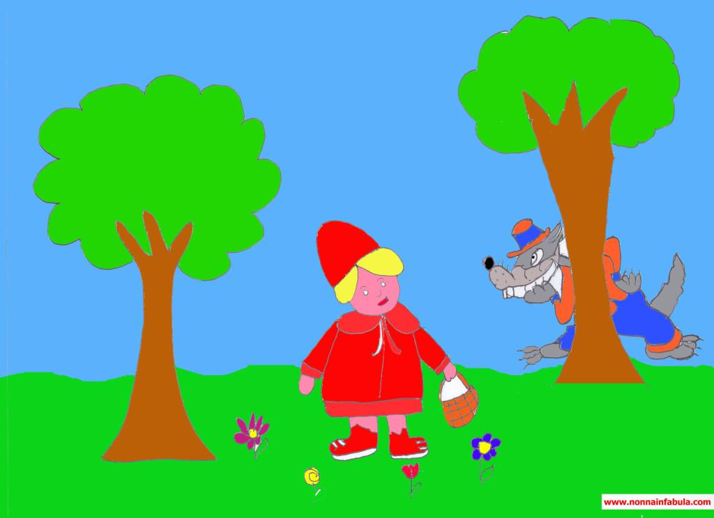 cappuccetto rosso e lupo color
