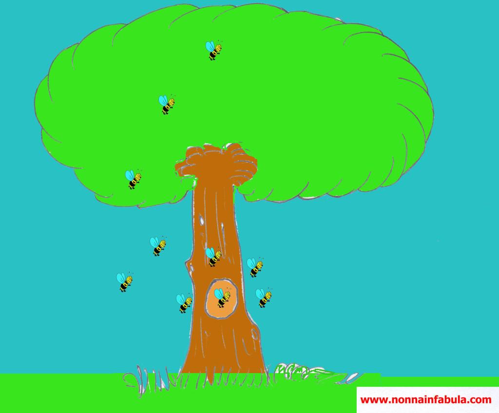 albero e api