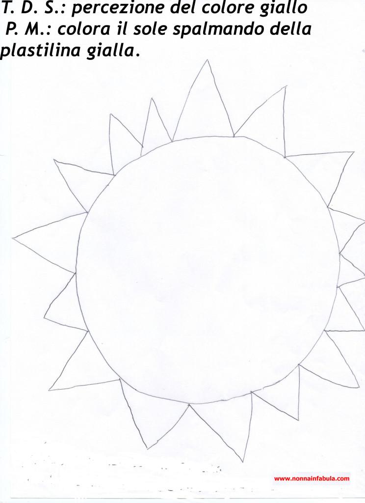 Progetto colore rivolto agli insegnanti parte ii nonna for Sole disegno da colorare