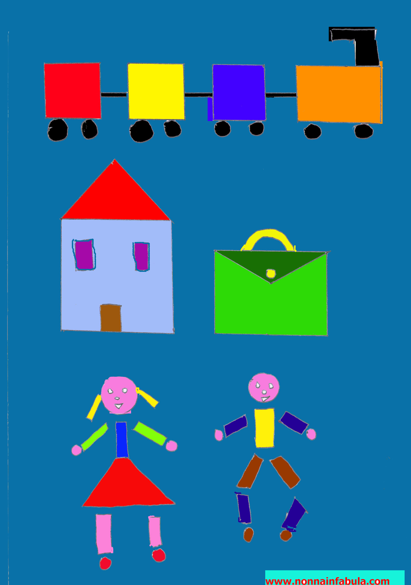 pagine da color are con forme geometriche