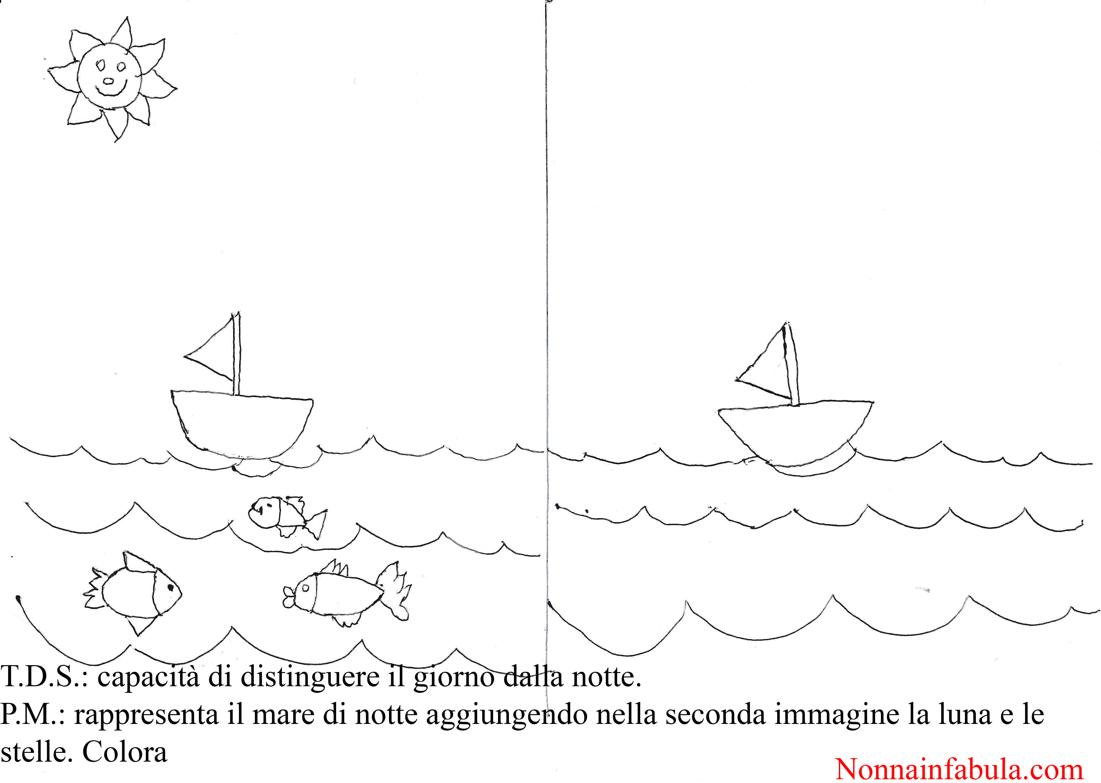 Progetto l ambiente marino per bambini di 5 6 anni for Immagini mare da colorare per bambini