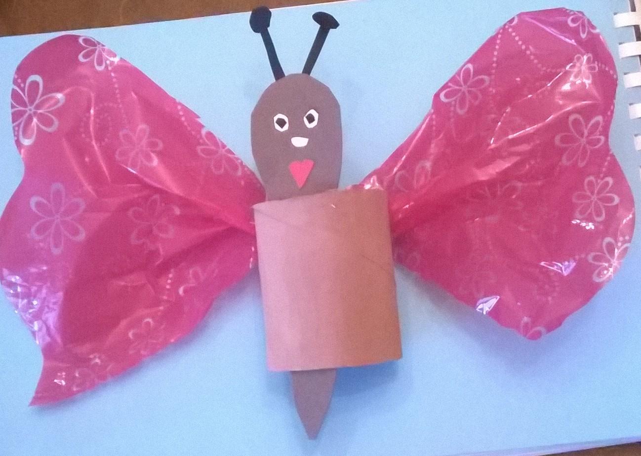 farfalla di cartone