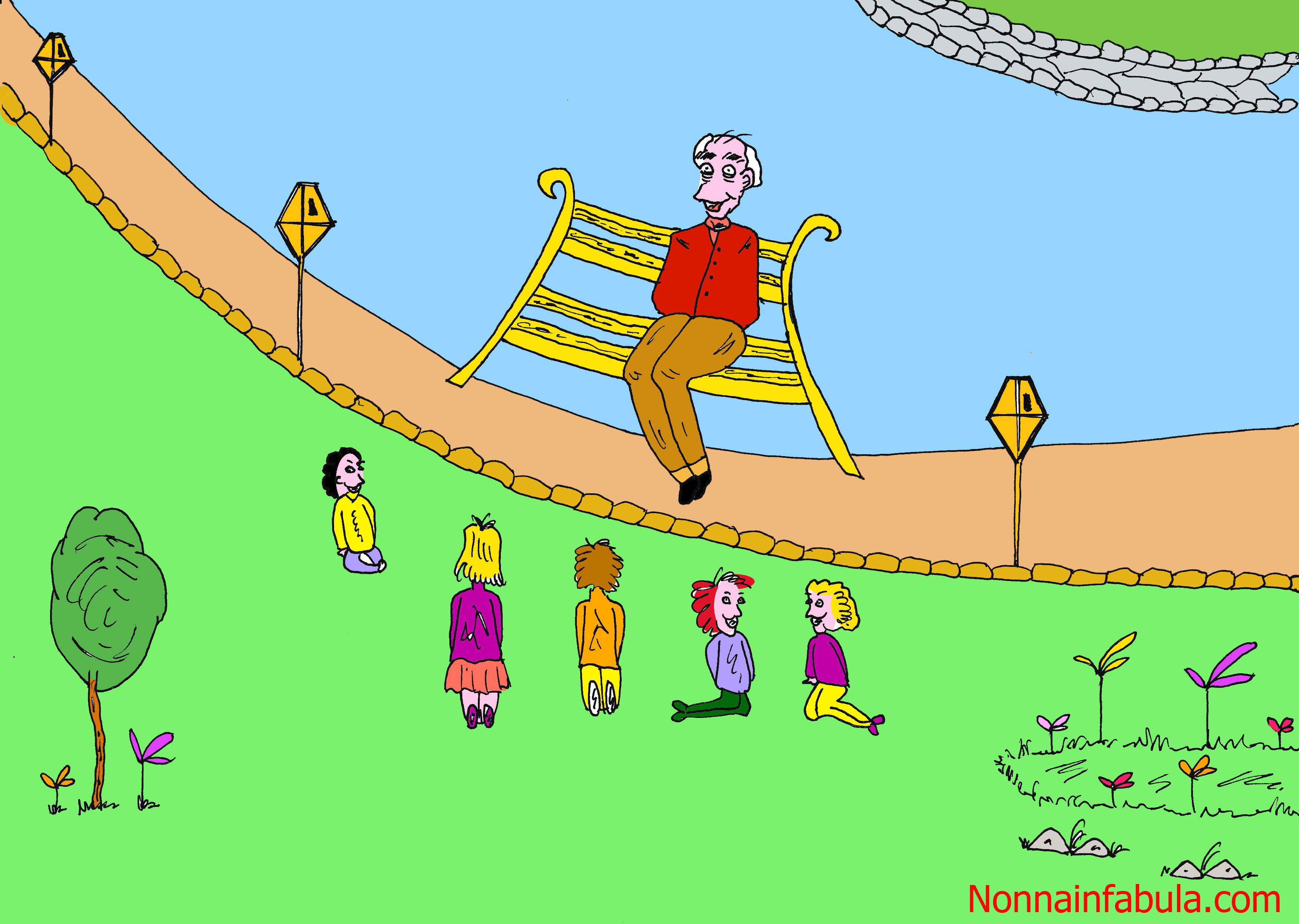 nonno sulla panchina