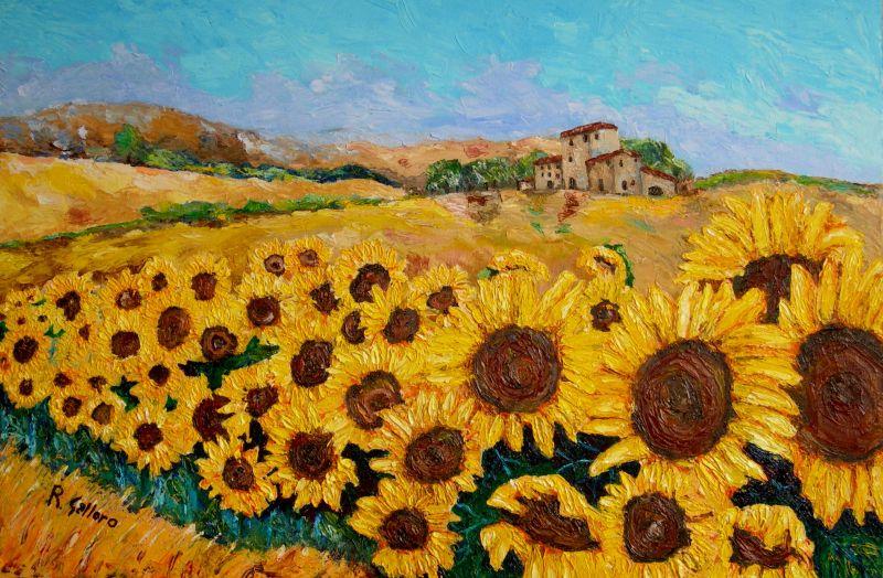 Matrimonio Girasoli Van Gogh : Progetto i fiori per bambini di anni nonna in fabula